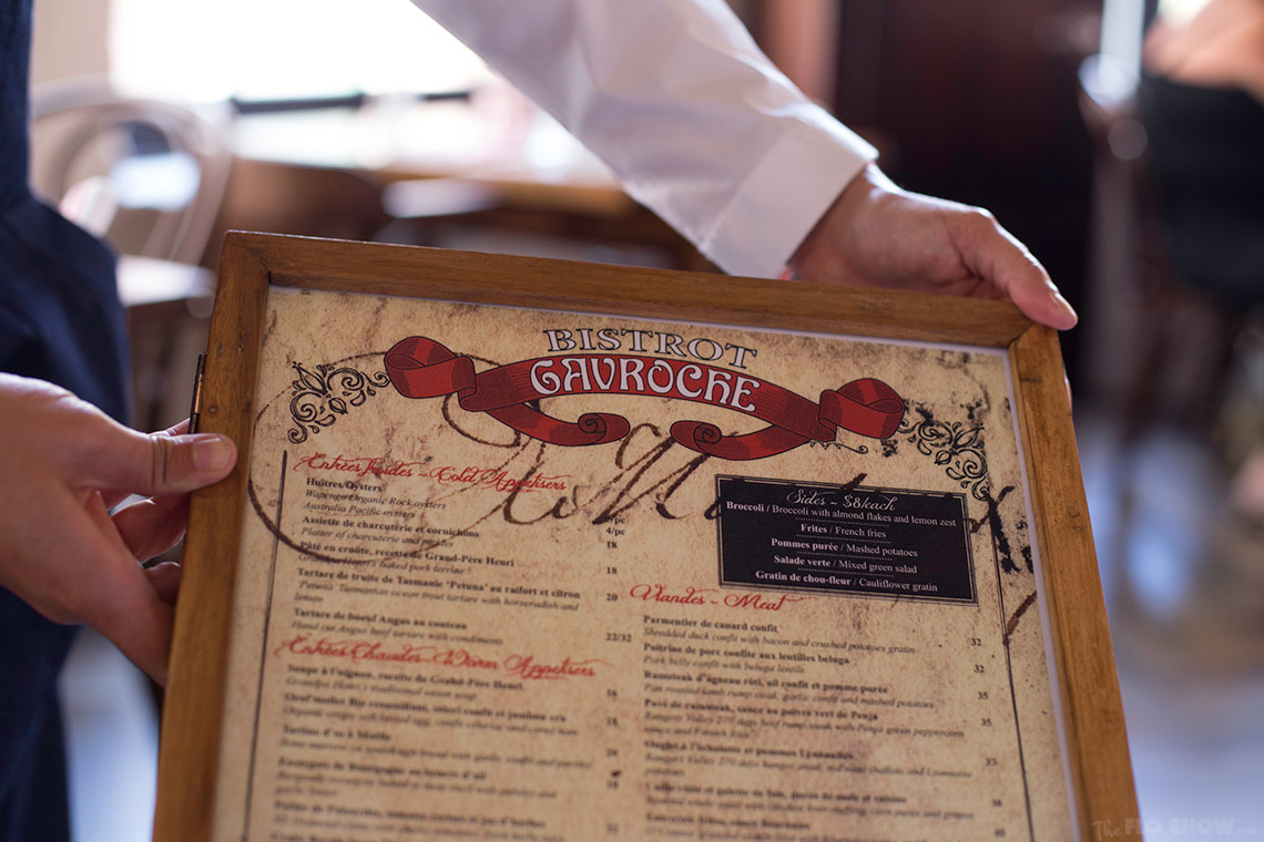 Restaurant review - Bistrot Gavroche in Chippendale - the menu www.TheFloShow.com