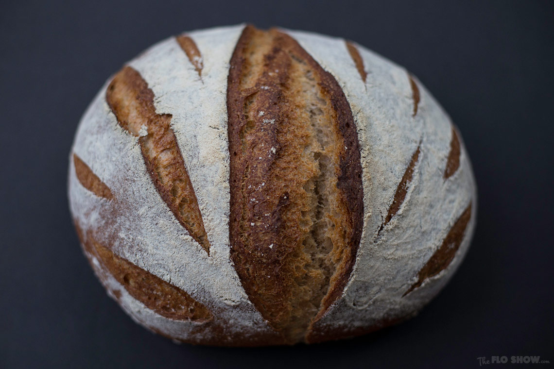 A spelt sourdough bread recipe on www.TheFloShow.com