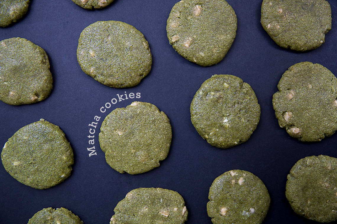Matcha and White Chocolate Cookies - a delicious green tea recipe on www.TheFloShow.com