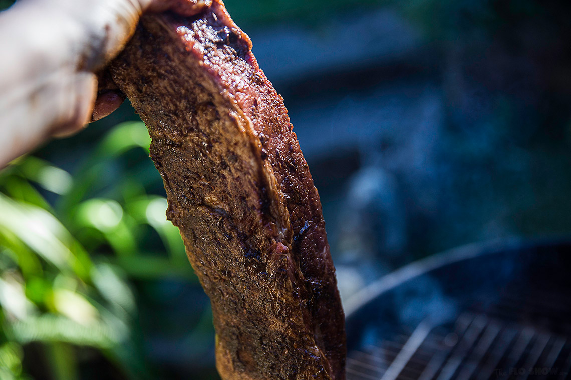 Smoked Brisket using the snake method - try this absolutely delicious recipe on www.TheFloShow.com