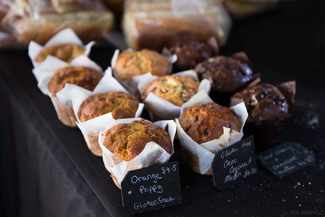 {market review} Ramsgate Foodie Market - fresh muffins on www.TheFloShow.com
