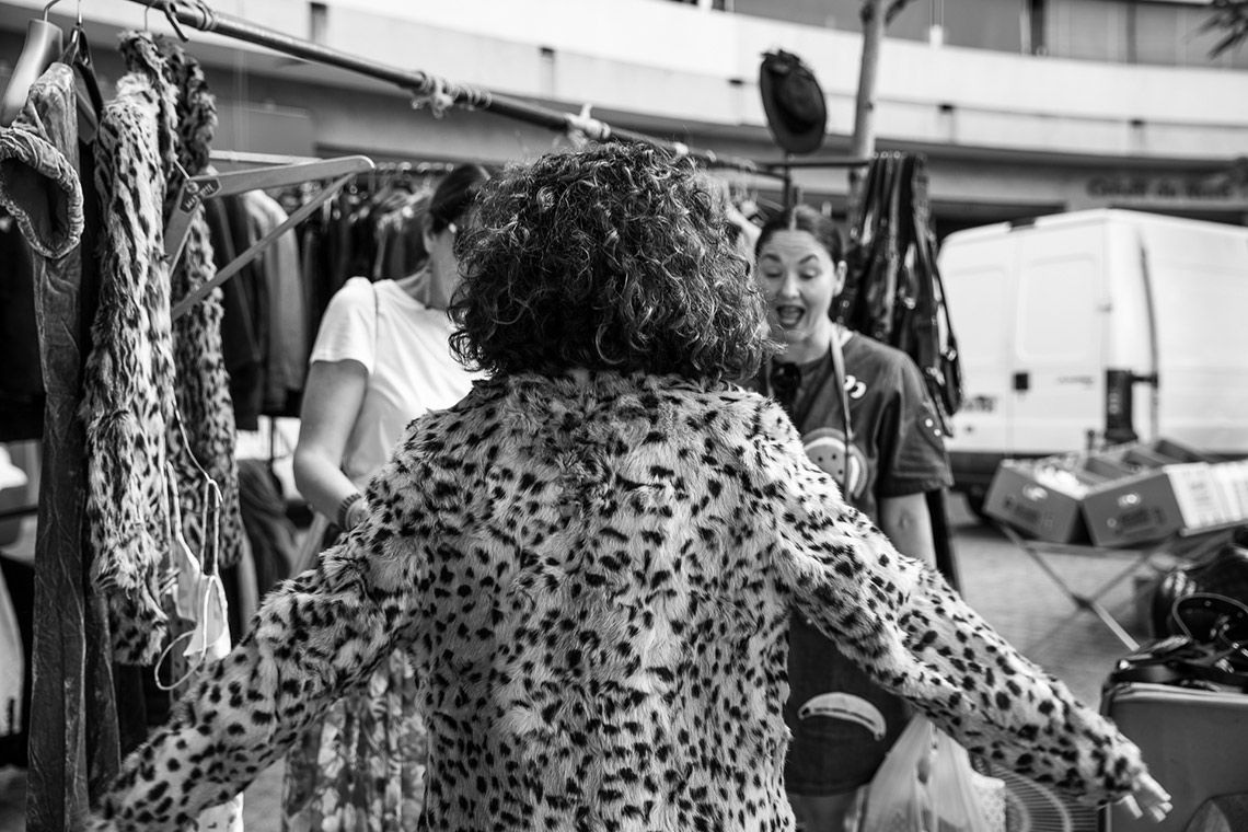 the schools paris excursion with megan morton leopard coat at marche daligre