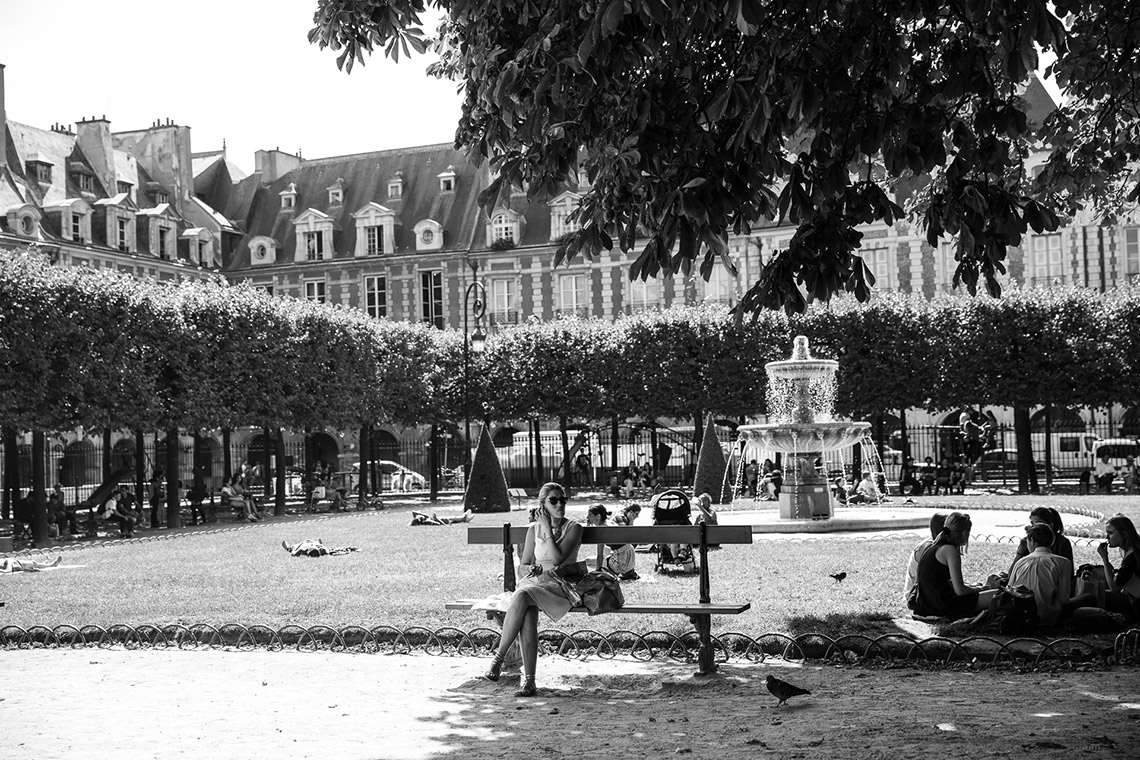 the schools paris excursion with megan morton place des vosges