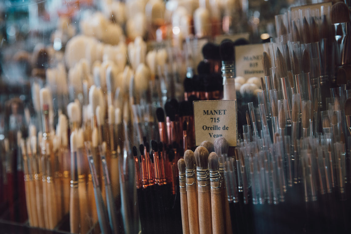 Visit Sennelier in Paris - brushes - on www.TheFloShow.com
