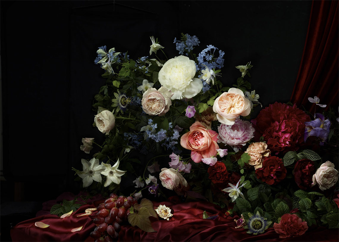 France with the Flo Show - Burgundy workshop - Bouquet by Ruby Barber