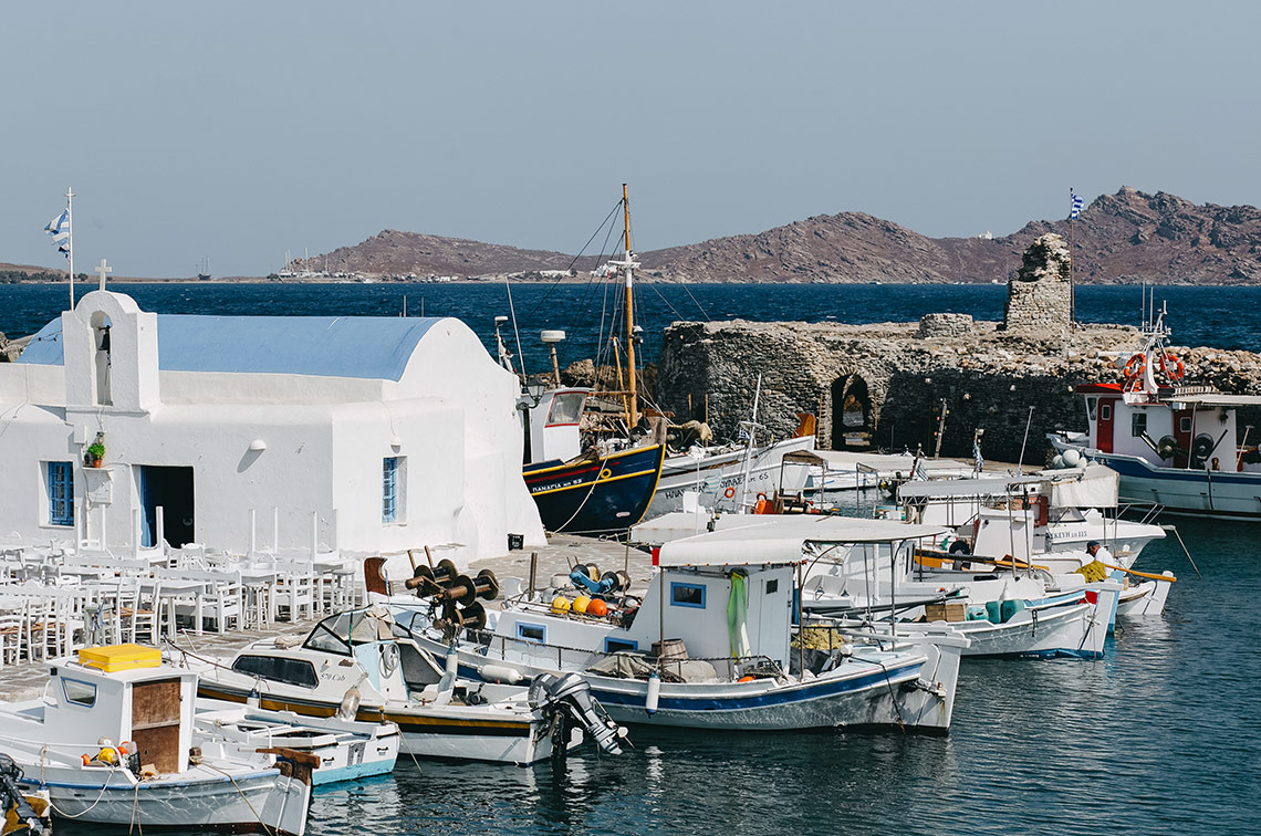 France with the Flo Show - Paros workshop - the harbour